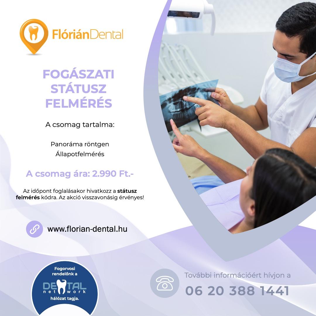 Flórián Dental Fogászat - Státusz felmérés akció
