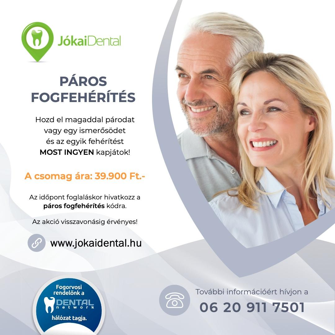 Jókai Dental fogorvos Budapesten - Páros Fogfehérítés